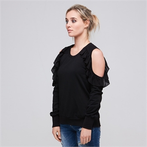 LUCY SWEATER BLACK BLANK