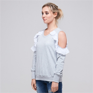 LUCY SWEATER GREY BLANK