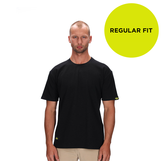 FELIX REGULAR BLACK MARLE BLANK T-SHIRT